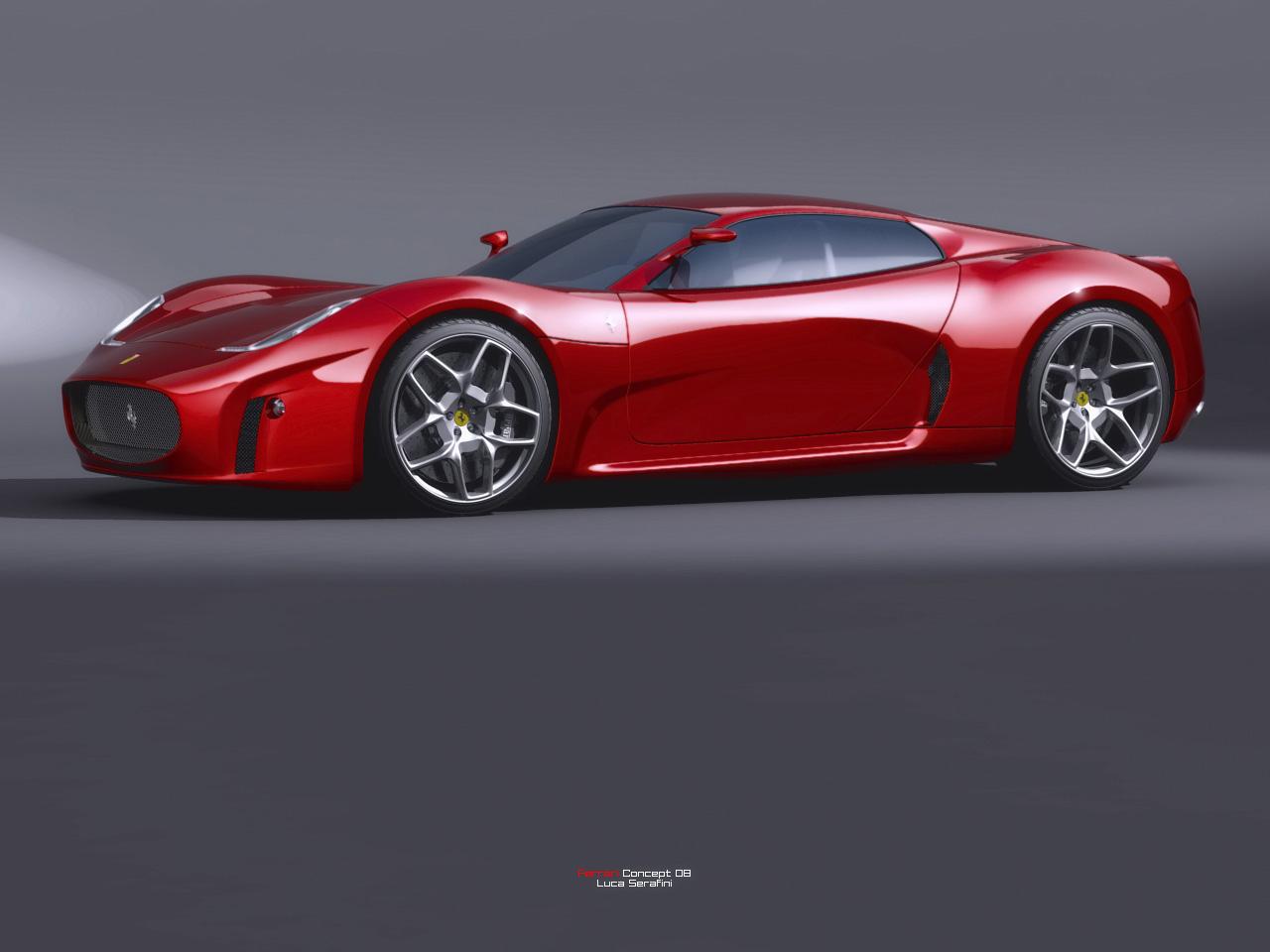 Ferrari Concept 2008 Design by Luca Serafini Side Angle World Cars Wallpaper For Free
