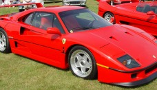 Ferrari F40 Red Front Side Angle World Cars Wallpaper For Computer