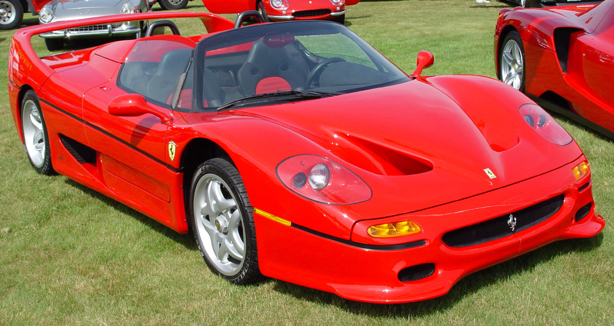Ferrari F50 Red Front Angle World Cars Wallpaper For Iphone