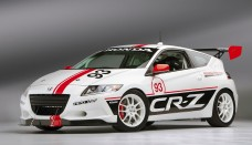 Honda CR-Z Hybrid Race Car Promotion at Le Mans Event Front Left Desktop Backgrounds