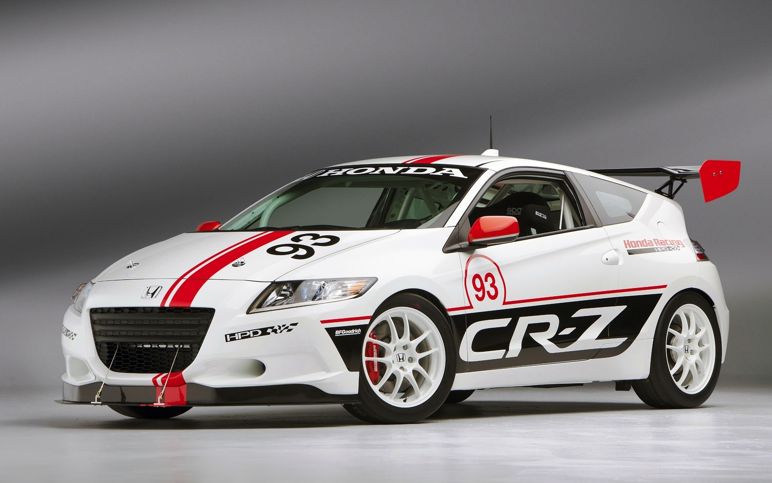 Honda CR-Z Hybrid Race Car Promotion at Le Mans Event Front Left Desktop Backgrounds