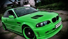LIME BMW M3 GTR LOOK Wallpaper For Android