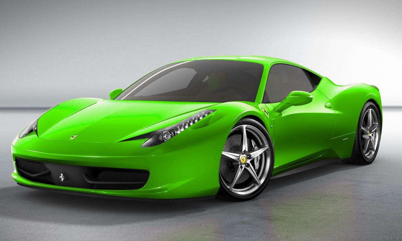 Neon Green Ferrari World Cars Wallpapers Download Wallpaper
