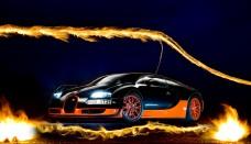 Bugatti Super Sport on The Veyron Omen Machine Wallpaper For Android