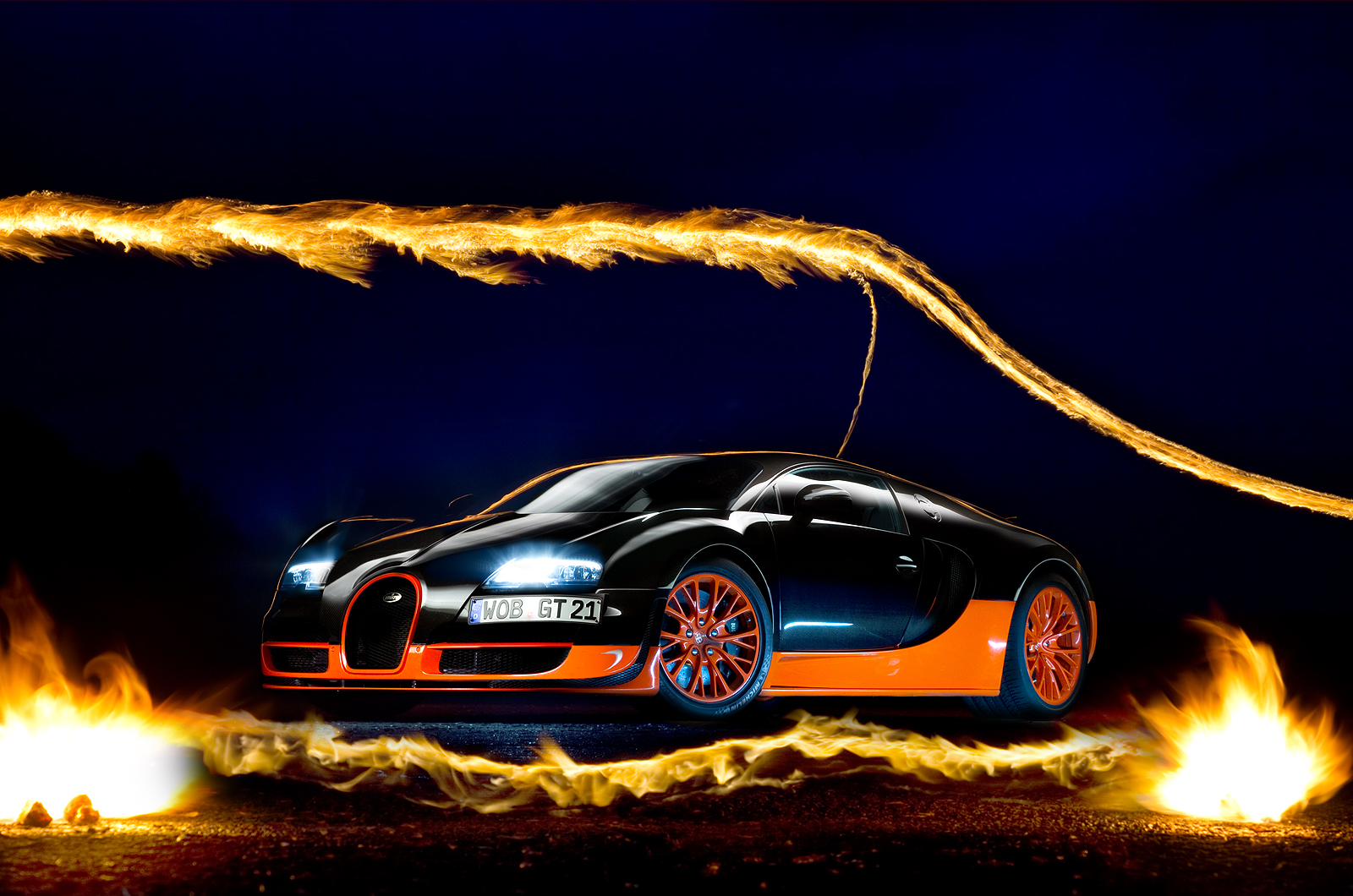 Bugatti Super Sport on The Veyron Omen Machine Wallpaper For Android