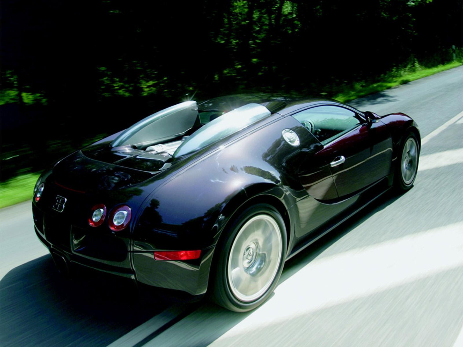 Bugatti Veyron Back View Wallpaper For Desktop