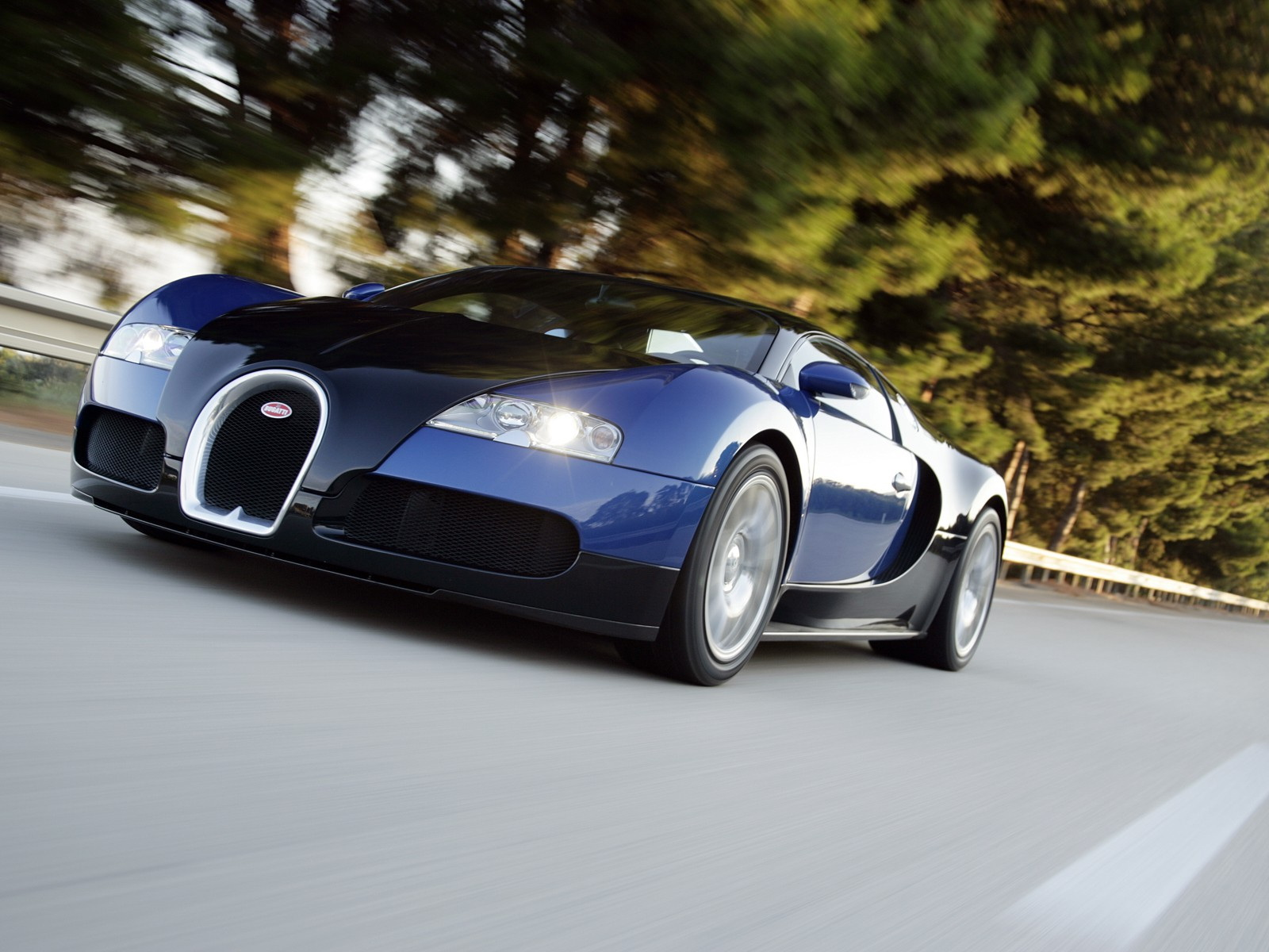 Bugatti Veyron Blue In Motion Grand Sport Sang Wallpaper Download