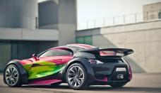 Citroen Electric Supercar Survolt Concept Art Car Wallpaper For Iphone