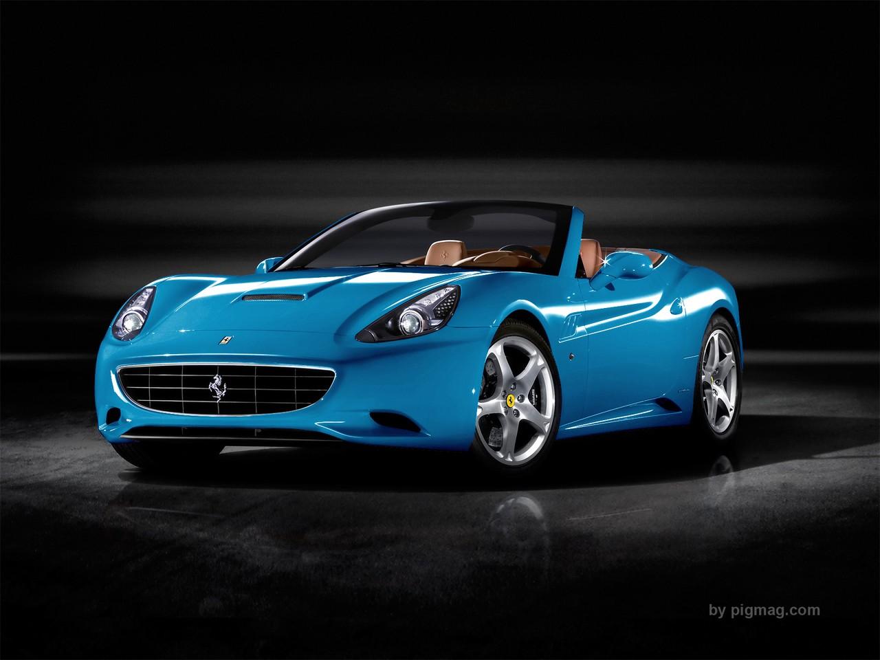 Ferrari California Light Sky Blue World Cars Wallpaper For Ios