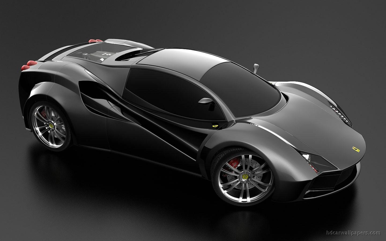 Ferrari Black Concept Wide World Cars Wallpapers Desktop Download