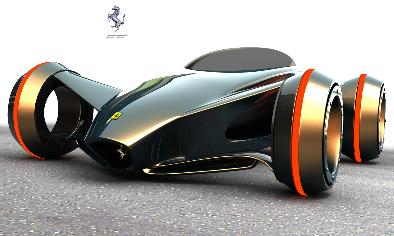 Ferrari Futuristic Concept Car Imola World Cars High Resolution Wallpaper Free