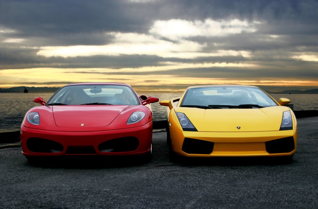 Ferrari or Lamborghini Guy Girl Cars Free Download Image Of