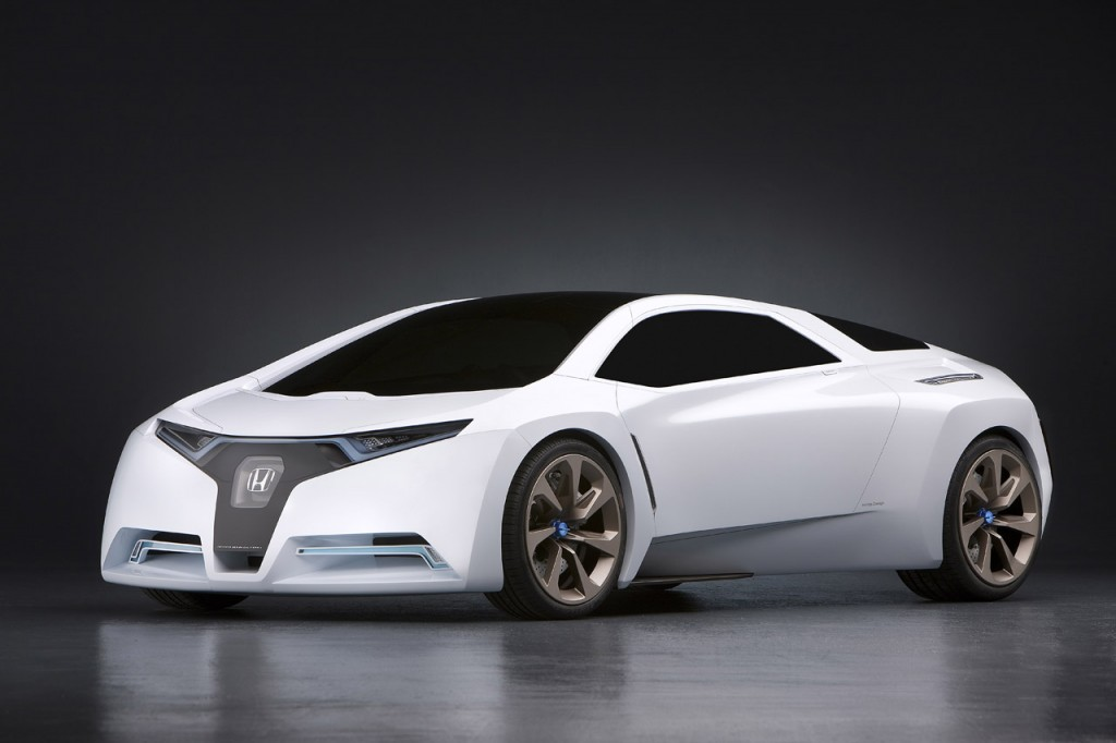 Honda Flying FUZ O Futuristic Car Concept Desktop Backgrounds