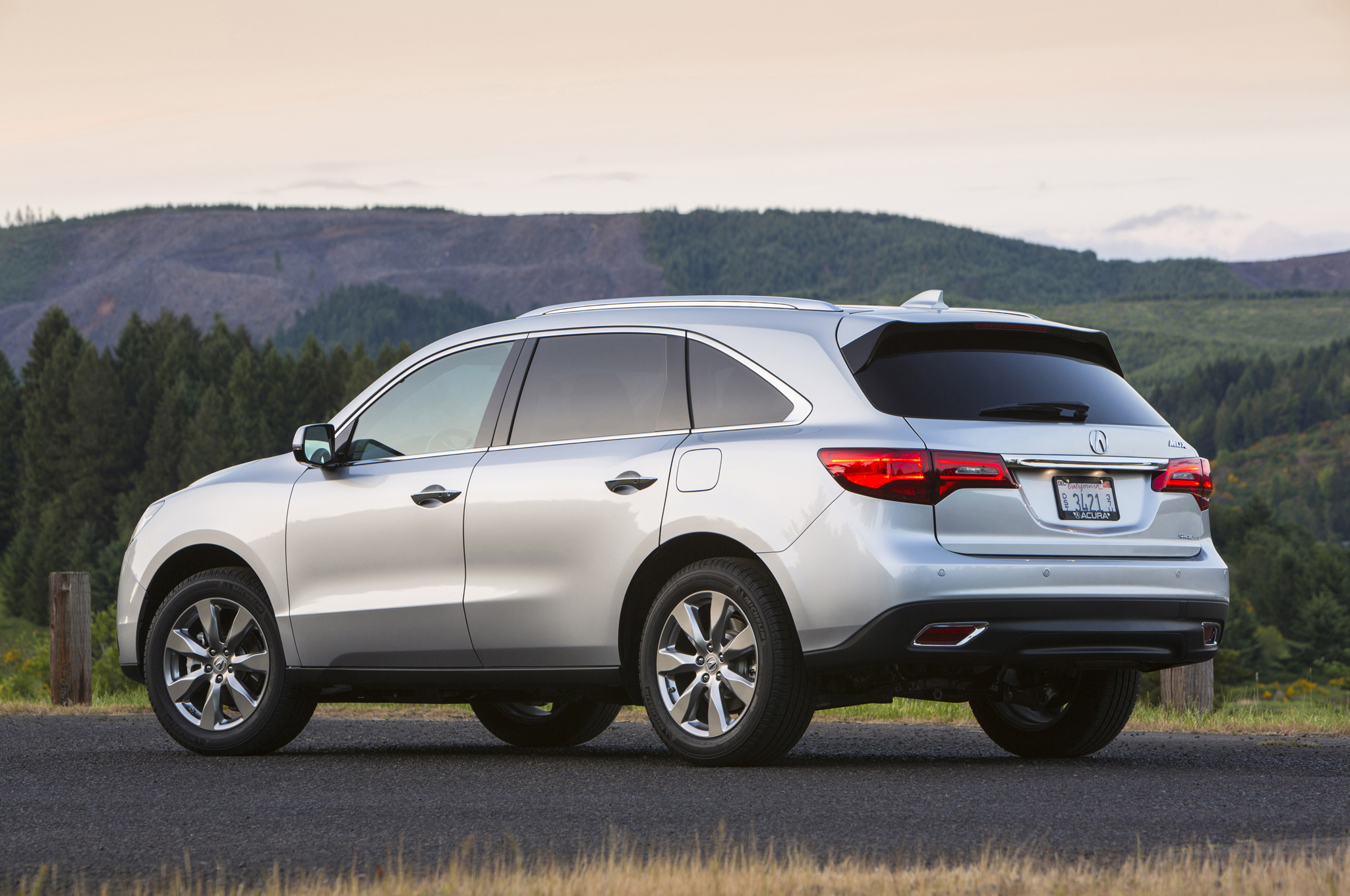 2014 Acura Mdx Rear Three Quarters 08 Free Download Image Of