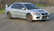 Mitsubishi Lancer Evolution IX Side Angle Road Photos Image Wallpaper Gallery Free