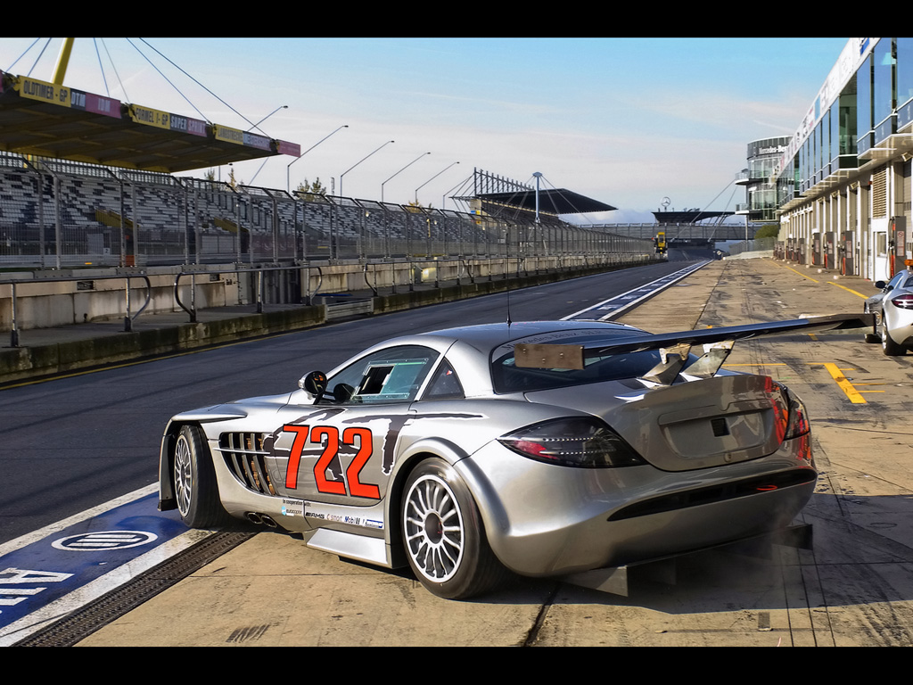 MERCEDES MCLAREN SLR 722 GT Rear And Side High Resolution Wallpaper Free
