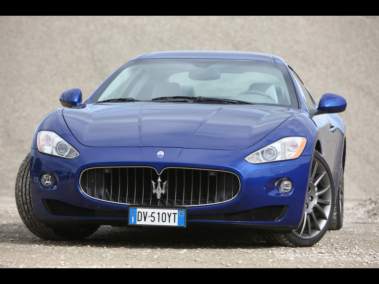 Maserati Gran Turismo S Automatic Blue Front Angle High Resolution Wallpaper Free