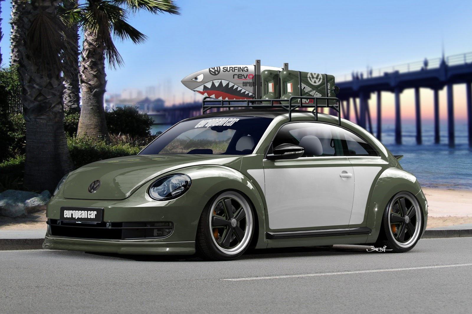 Volkswagen New Beetle at SEMA Wallpaper Backgrounds Wallpaper