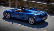 Mclaren 12C Spider Rear Three Quarters In Motion Photo Wallpapers HD
