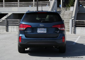 Kia Sorento EX Exterior Rear Picture Courtesy High Resolution Wallpaper Free