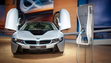 BMW i8 electric hybrid sports car Free Download Image Of