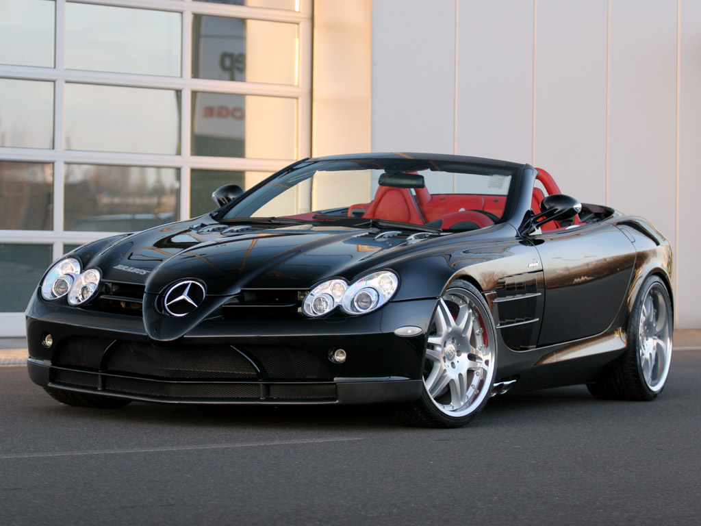 The Brabus SLR McLaren Roadster features clutch type limited slip Wallpaper Backgrounds