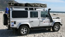 Land Rover Defender 110 with Overland Kit on Hout Bay Beach Free Picture Download Image Of