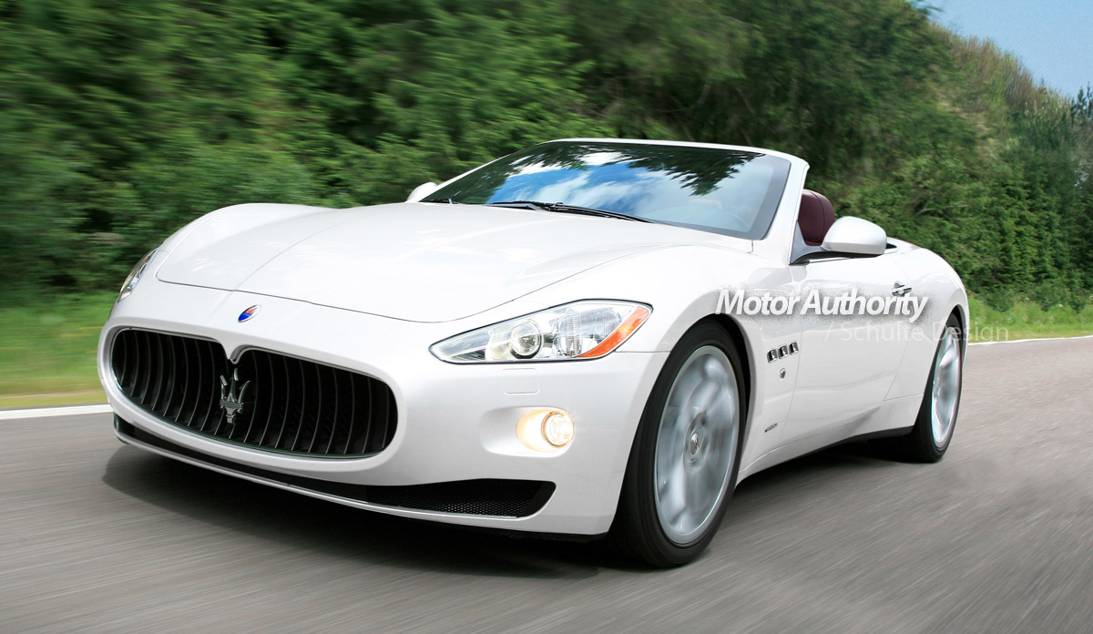 MASERATI Cabrio white Auto Show Desktop Backgrounds