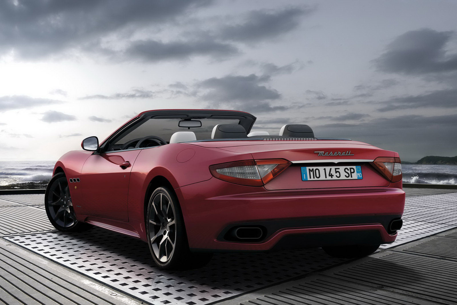 Maserati GranCabrio Sport rear angle Geneva Motor Show Free Download Image Of