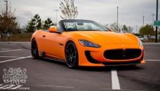 Maserati GranTurismo Convertible refined Auto Show Desktop Backgrounds free