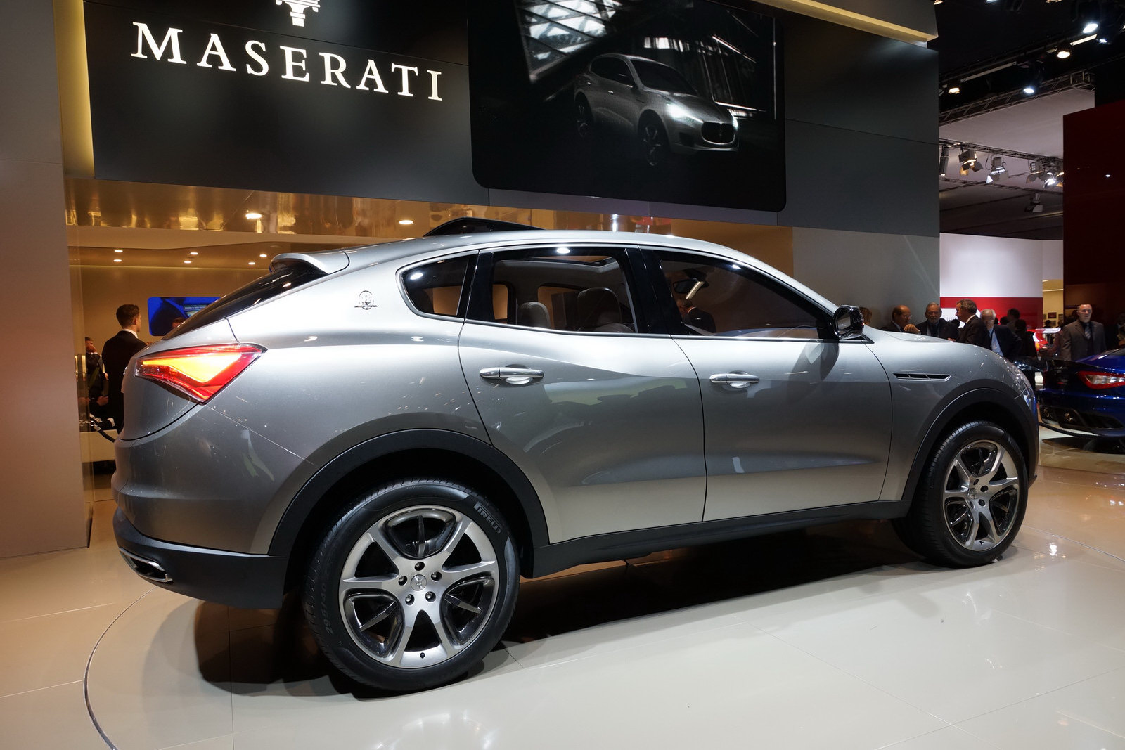 Maserati Kubang SUV Jeep Based but Ferrari Powered Wallpapers Desktop Download
