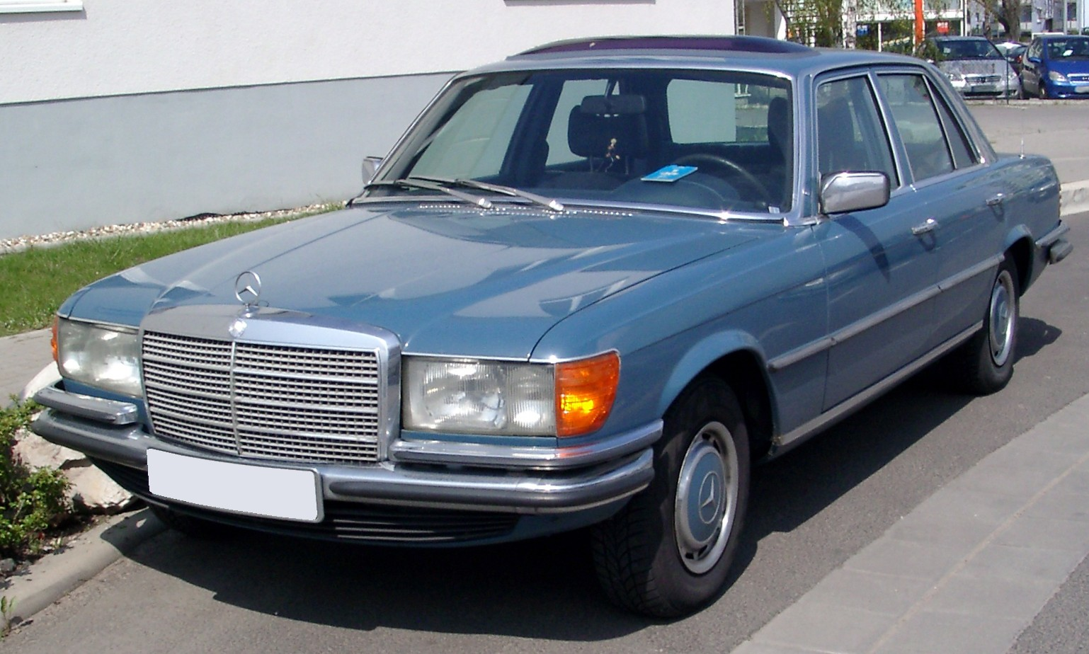 Mercedes-Benz W116 front HD Wallpaper Free Download Image Of
