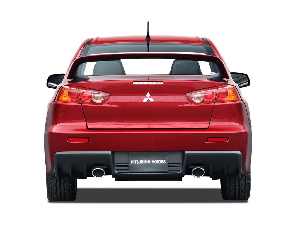 Mitsubishi Lancer Evolution X Rear View Pictures and Specs Wallpaper Backgrounds