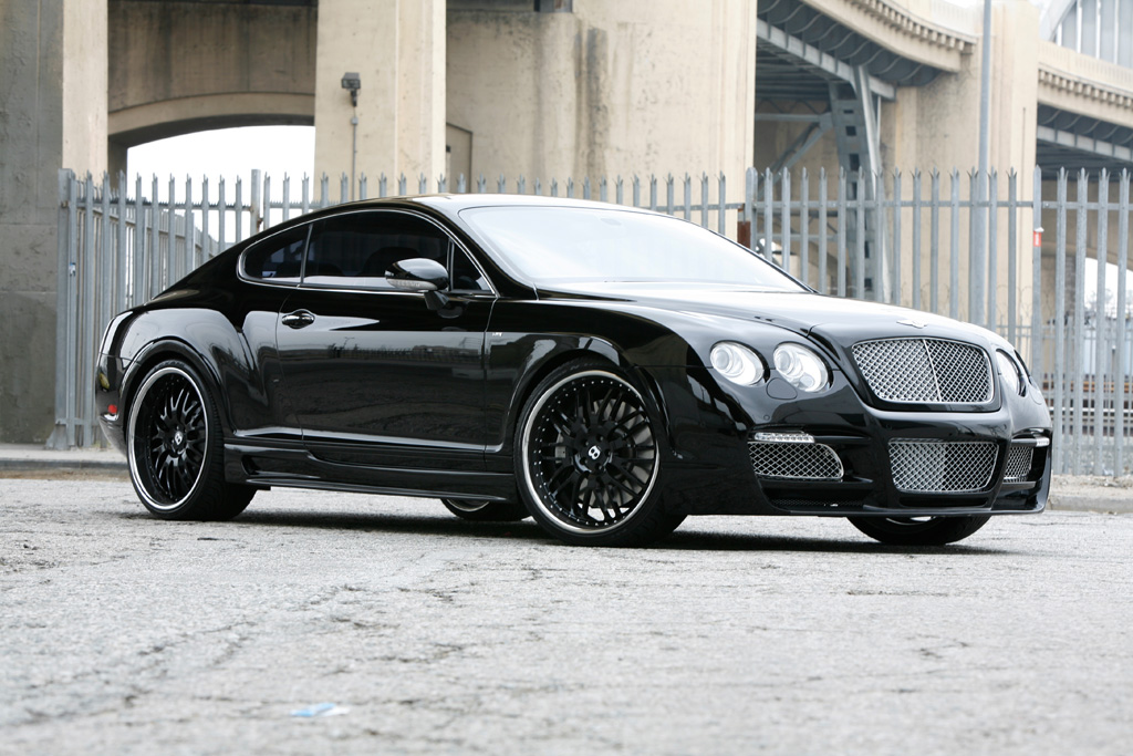 Bentley Continental GT with 22 inch iForged PS Essen finished in Black Free Picture Download Image Of