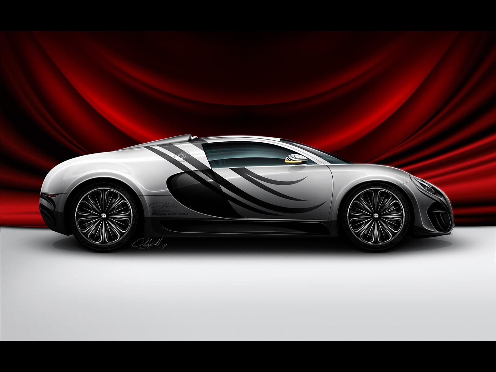 Cars Bugatti Venom Concept Rear View HD Wallpaper Gallery Free