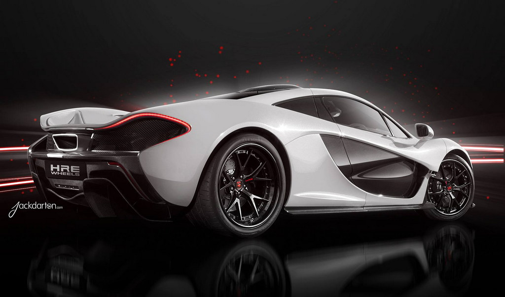 McLaren P1 and LaFerrari Rendered On HRE Wheels Super Sports Car designed Free Download Image Of