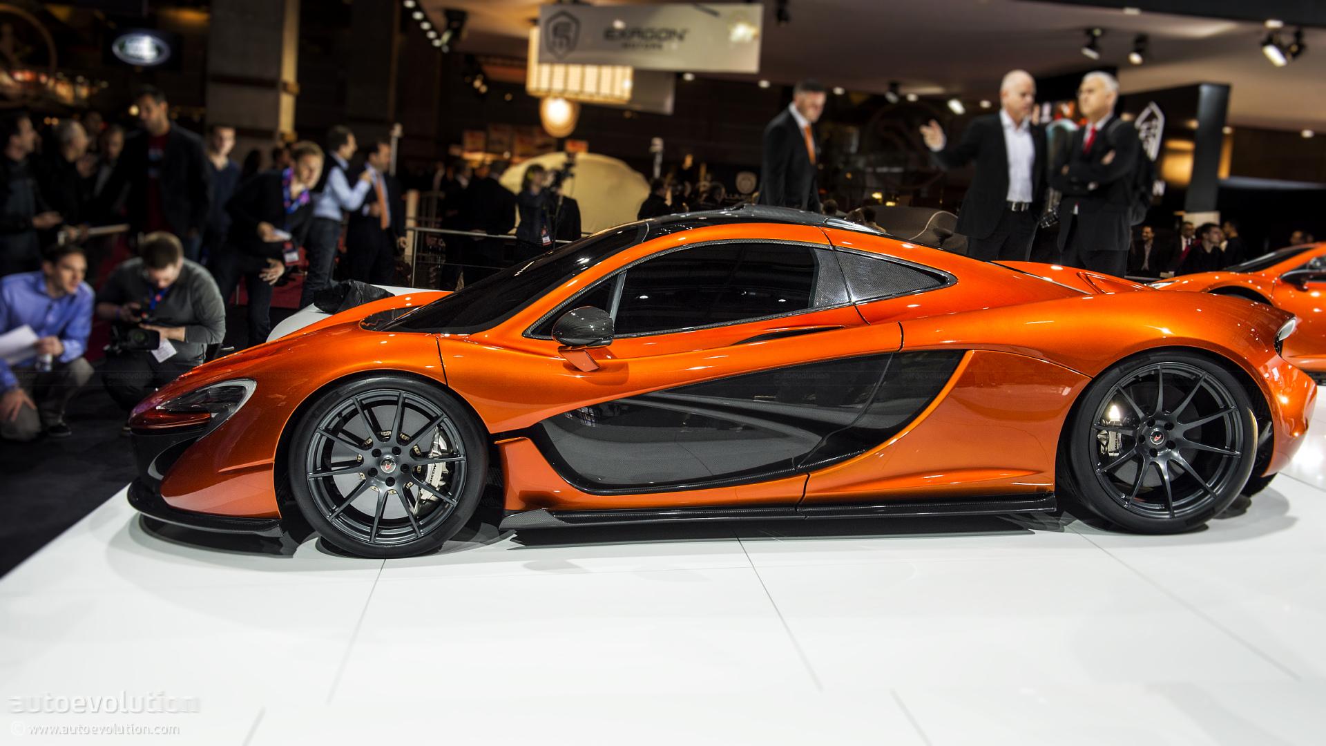 McLaren P1 Hypercar Concept  live photos Motor Show High Resolution Wallpaper Free