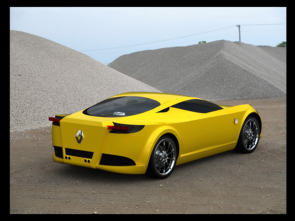 Renault New Alpine Concept Design by Marcello Felipe Yellow Image Wallpapers Desktop Download