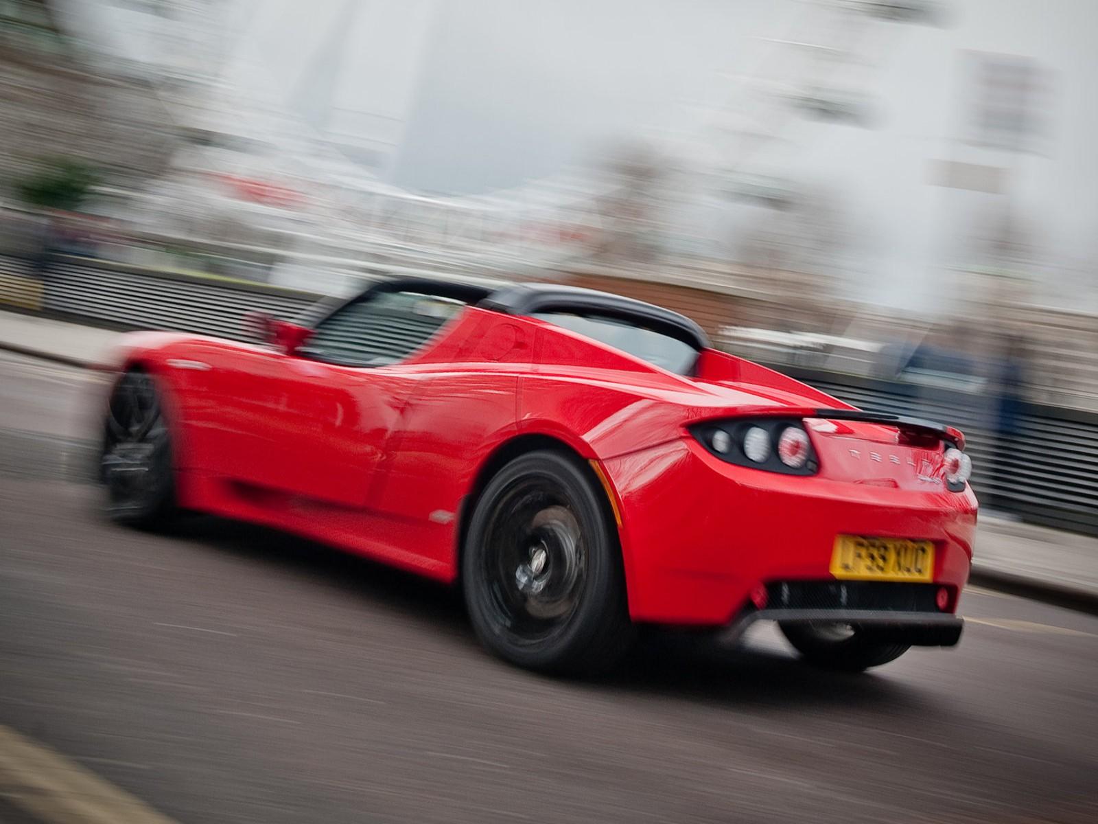 Tesla Roadster UK Version image Present Desktop Backgrounds