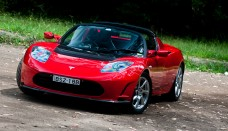 Tesla Roadster static forest news and reviews Wallpaper Gallery Free