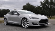 Tesla Model S passasjersiden front Car Images Wallpapers HD