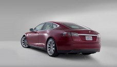 Tesla Model S Rear Three Quarter Photo picture High Resolution Wallpaper Free