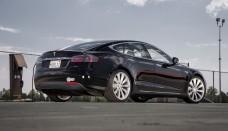 Tesla Model S Rear Three Quarter Photo Sport Wallpaper Gallery Free