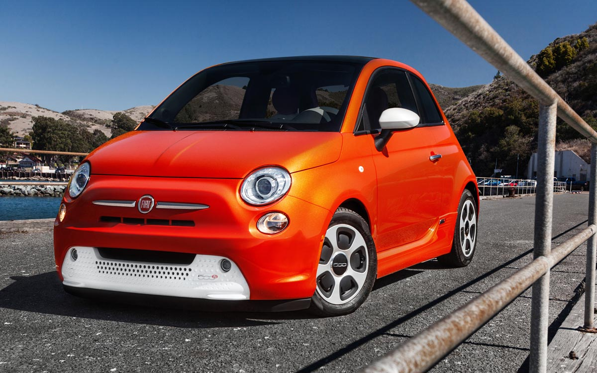 Fiat 500e electric car Free Download Image Of