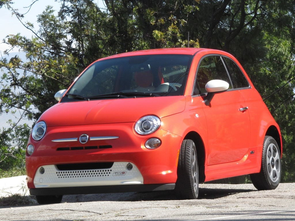 Fiat 500e electric car HD Free Picture Download Image Of