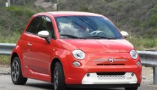 Fiat 500e electric car Los Angeles drive event Free Download Image Of