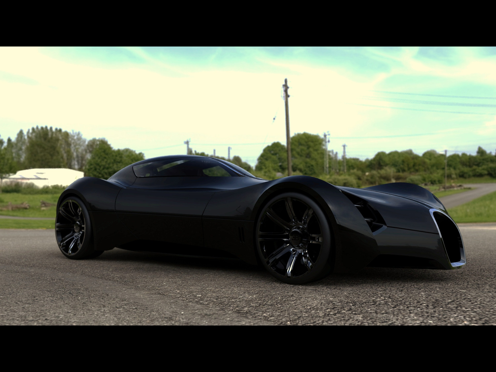 future Bugatti Aerolithe Concept Design by Douglas Hogg Front And Side Free Download Image
