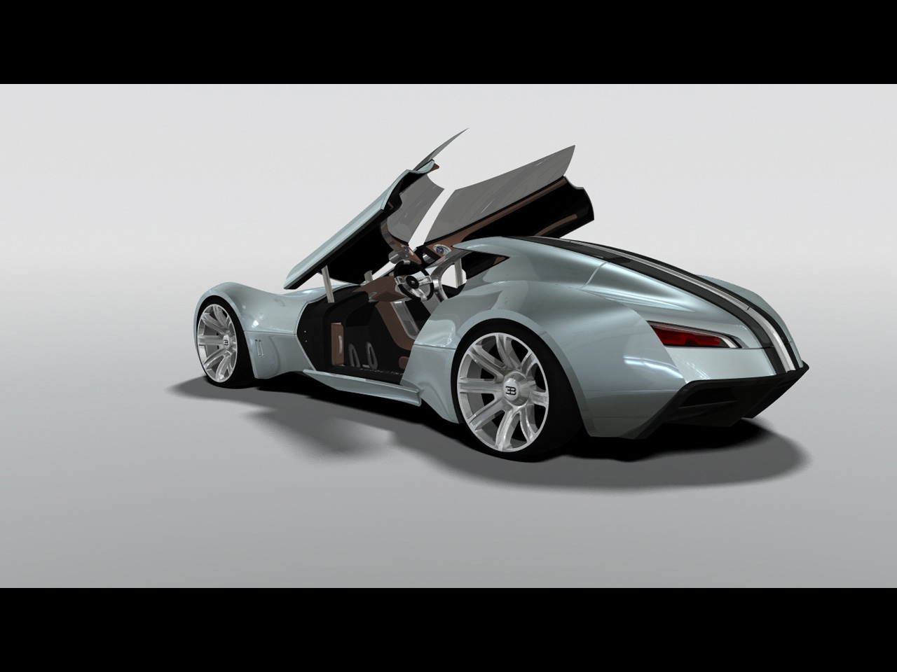 future Bugatti Aerolithe Concept Design by Douglas Hogg Rear And Side Steering Column Raised Free Download Image Wallpaper