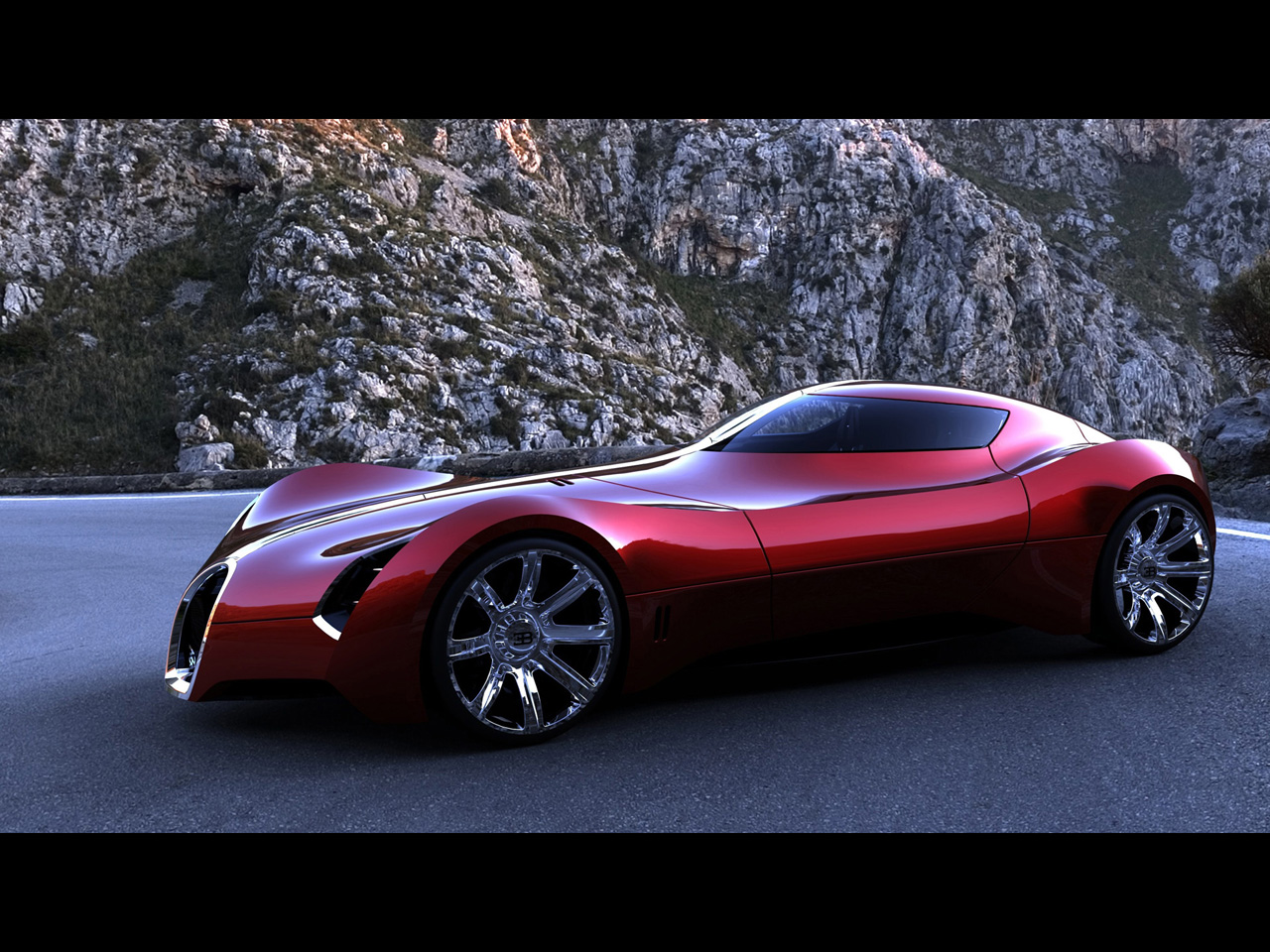 future Bugatti Aerolithe Concept Design by Douglas Hogg Free Download Image