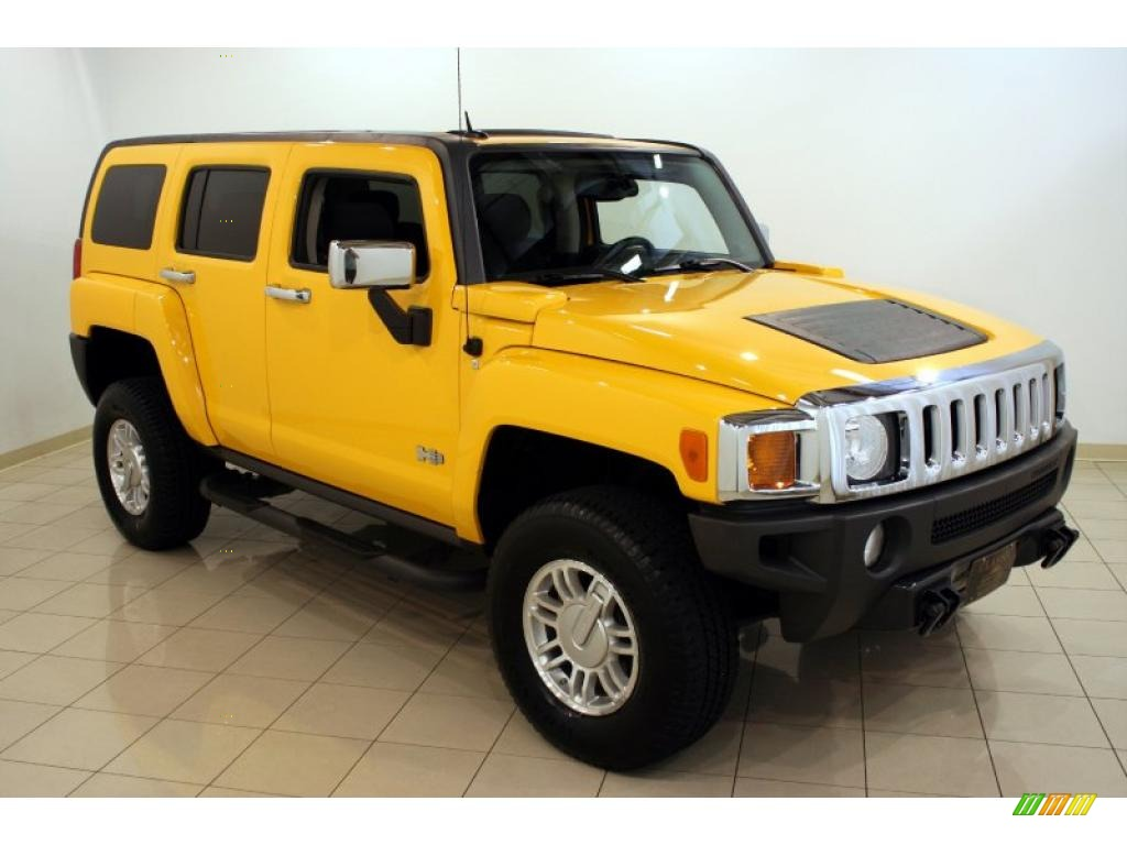 Yellow 2007 Hummer H3 SUV Desktop Backgrounds